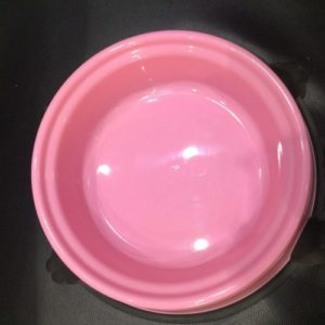 Food bowl with footer