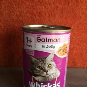 Whiskas Jelly – 390 Grams-Salmon
