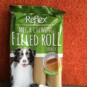 Reflex Mega Chewing Filled Roll Snacks-poultry
