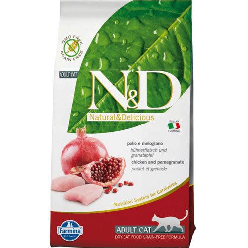 N&D GRAIN FREE – Chicken & Pomegranate Adult Cat Food
