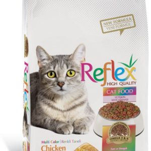 Reflex Adult Cat Food Multi Color Chicken – 1.5 Kg