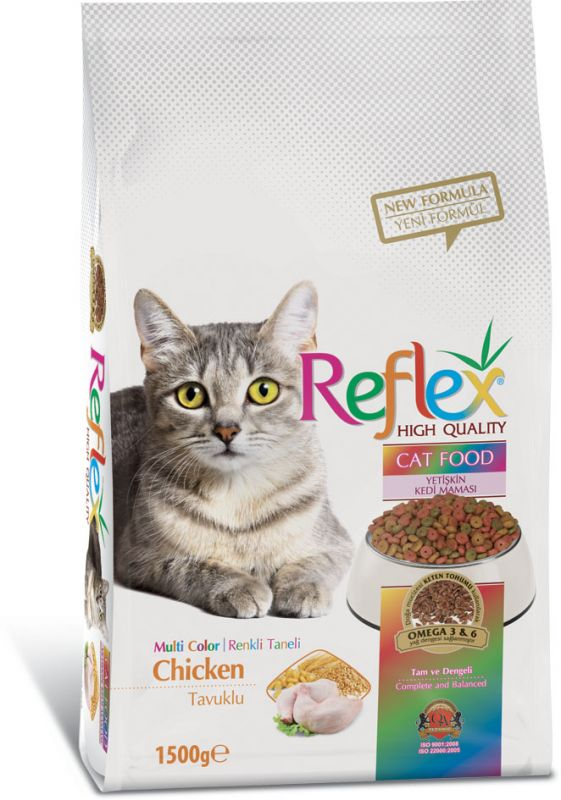 Reflex Adult Cat Food Multi Color Chicken – 1.5 Kg