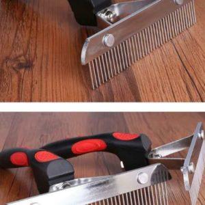 Metal grooming bursh for long hairs