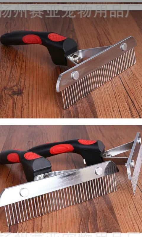 Metal grooming bursh for long hairs
