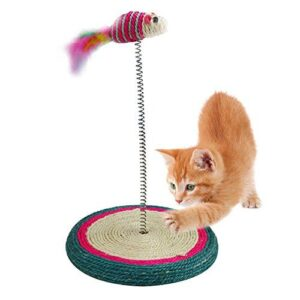 cat spring mouse toy
