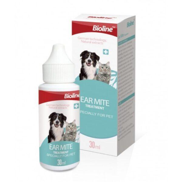 BIOLINE-EAR MITE DROP-cats & dogs